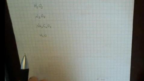 Thumbnail for entry Determining the molecular formula