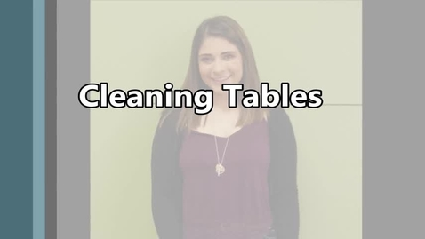 Thumbnail for entry Cleaning Tables