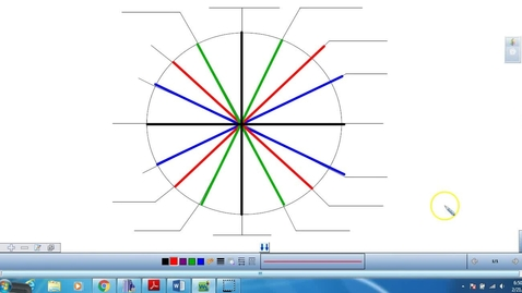 Thumbnail for entry Unit Circle filling in degrees and radians