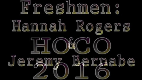 Thumbnail for entry Homecoming 2016 Candidates