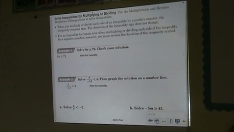 Thumbnail for entry PA Lesson 5-4 Solving Inequalities Part 2