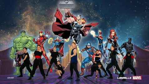 Thumbnail for entry MOVE LIKE THE AVENGERS | Marvel x Les Mills 5-minute Kids Workout