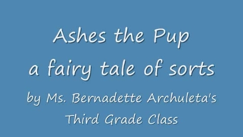 Thumbnail for entry Ashes the Puppy by ERE 3rd grade