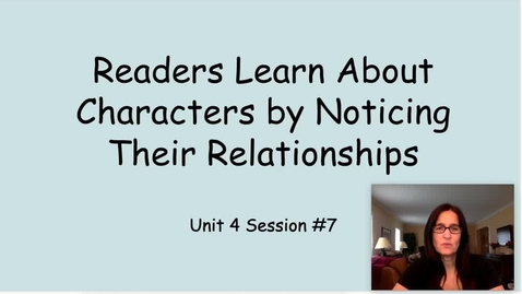 Thumbnail for entry RW Unit 4 Session 7 Noticing Relationships