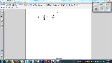 Thumbnail for entry Solving One-step Equations with fractions
