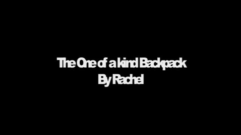 Thumbnail for entry The One of a kind Backpack