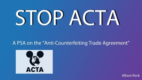 Thumbnail for entry Stop ACTA - WSCN