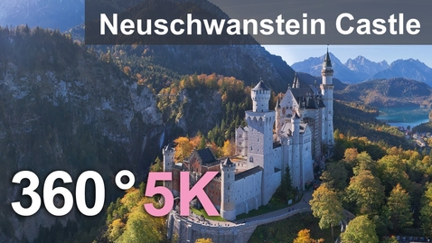 Thumbnail for entry Neuschwanstein Castle, Germany. Aerial 360 video in 5K