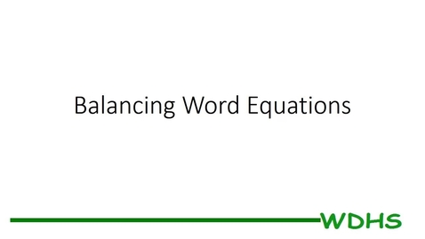 Thumbnail for entry Balancing Word Equations