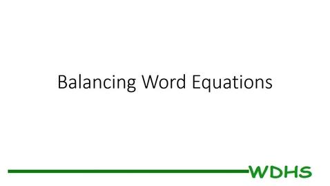 Thumbnail for entry Balancing Word Equations