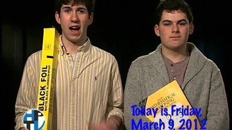 Thumbnail for entry Friday, March 9, 2012