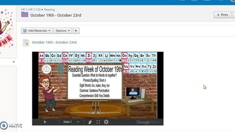 Thumbnail for entry Week of October 19 Recap
