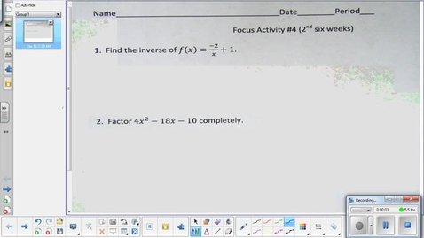 Thumbnail for entry Mixture problems lesson pt 2   10-22-14