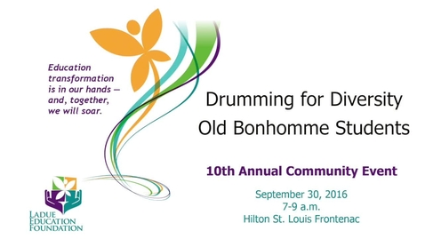 Thumbnail for entry Drumming for Diversity, Old Bonhomme Students