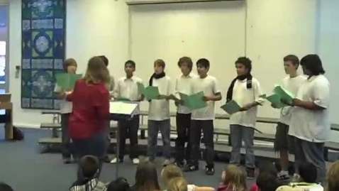 Thumbnail for entry Middle School Choir Holiday Soiree