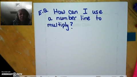 Thumbnail for entry Multiplying with a Number Line