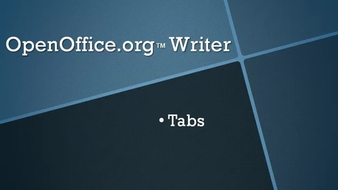 Thumbnail for entry Set Tabs in OpenOffice.org™ Writer