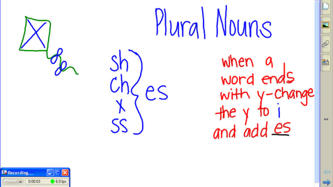 Thumbnail for entry First Grade Plural Nouns
