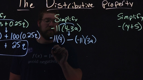 Thumbnail for entry Understanding the Distributive Property | Part 2 | 3 Examples | Minute Math