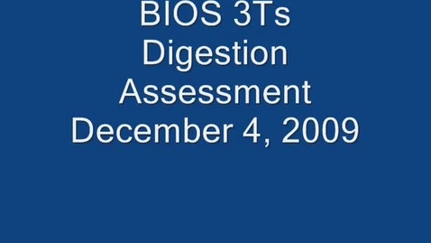 Thumbnail for entry Digestion Assessment