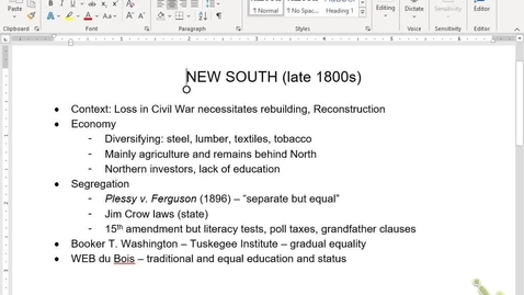 Thumbnail for entry APUSH Review 12: Gilded Age South/West