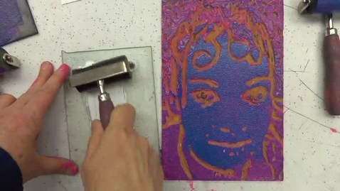 Thumbnail for entry Linoleum Block Print 9: Using Color for Emphasis 2