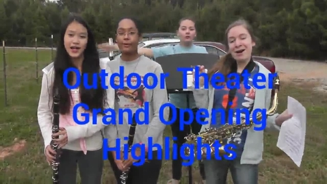 Thumbnail for entry Trickum Middle Outdoor Theater Opening