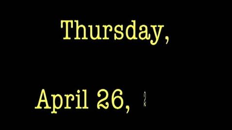 Thumbnail for entry Thursday, April 26, 2012