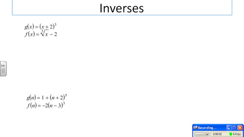 Thumbnail for entry inverse functions