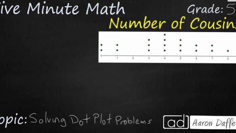 Thumbnail for entry 5th Grade Math Solving Dot Plot Problems