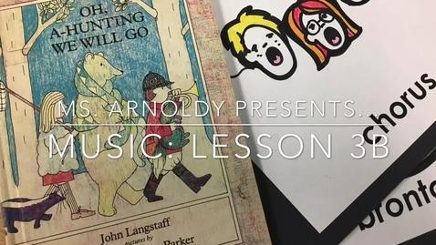 Thumbnail for entry  Kindergarten Music Lesson 3B: 2020-2021