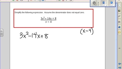Thumbnail for entry Dividing Polynomials by binomials example 5