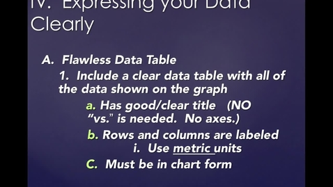 Thumbnail for entry Unit 1, Part 2, Section 4:  Expressing Your Data Clearly