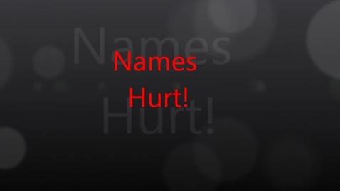 Thumbnail for entry Names Hurt!