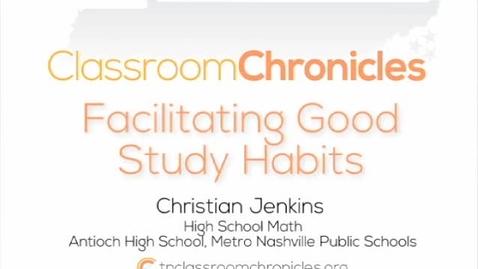 Thumbnail for entry Facilitating Good Study Habits