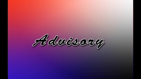 Thumbnail for entry Advisory - JHS -JRB