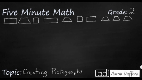 Thumbnail for entry 2nd Grade Math Creating Pictographs