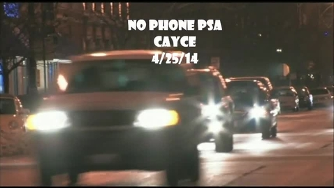 Thumbnail for entry Texting While Driving PSA