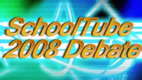 Thumbnail for entry SchoolTube Mock Debate