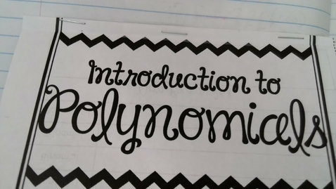 Thumbnail for entry Intro to Polynomials
