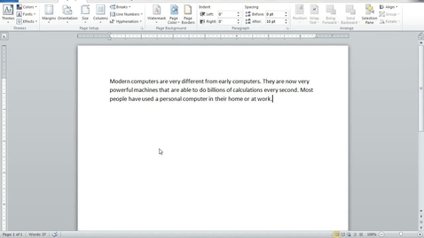 Thumbnail for entry Custom Margins in Word 2010