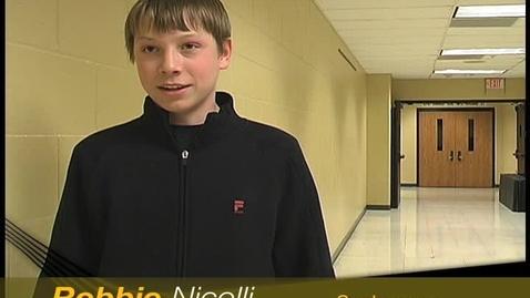 Thumbnail for entry Robbie Nicolli plays Tennis