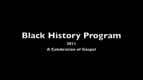 Thumbnail for entry Black History Concert 2011