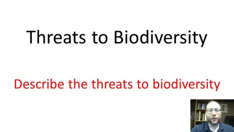 Thumbnail for entry Threats to biodiverstiy