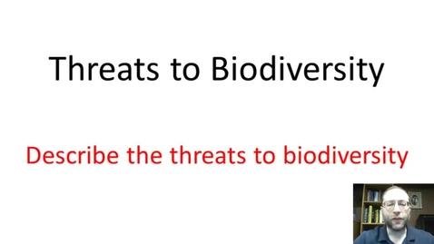 Thumbnail for entry Threats to biodiverstiy