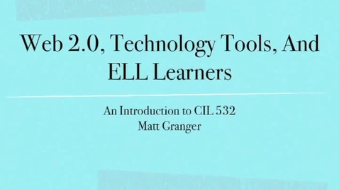 Thumbnail for entry CIL 532 Introduction