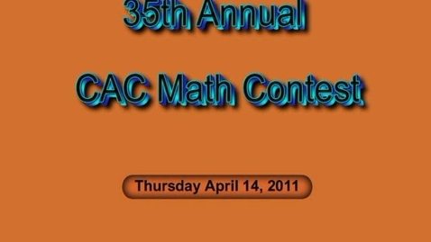 Thumbnail for entry CAC Math Contest