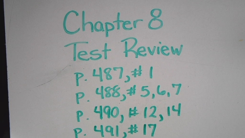 Thumbnail for entry Chapter 8 Test Review from Book