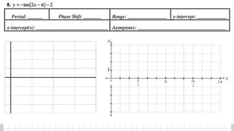 Thumbnail for entry Graphing Tangent Packet 8