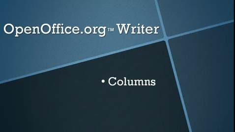 Thumbnail for entry Format Columns in OpenOffice.org™ Writer
